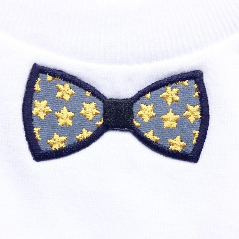 RIBON YELLOW STAR TシャツWHITE