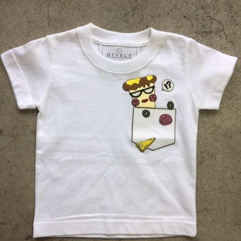 PIZZA  Tシャツ ホワイトPK  LADYS/MENS
