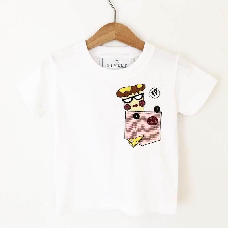 PIZZA KIDS Tシャツ レッドPK