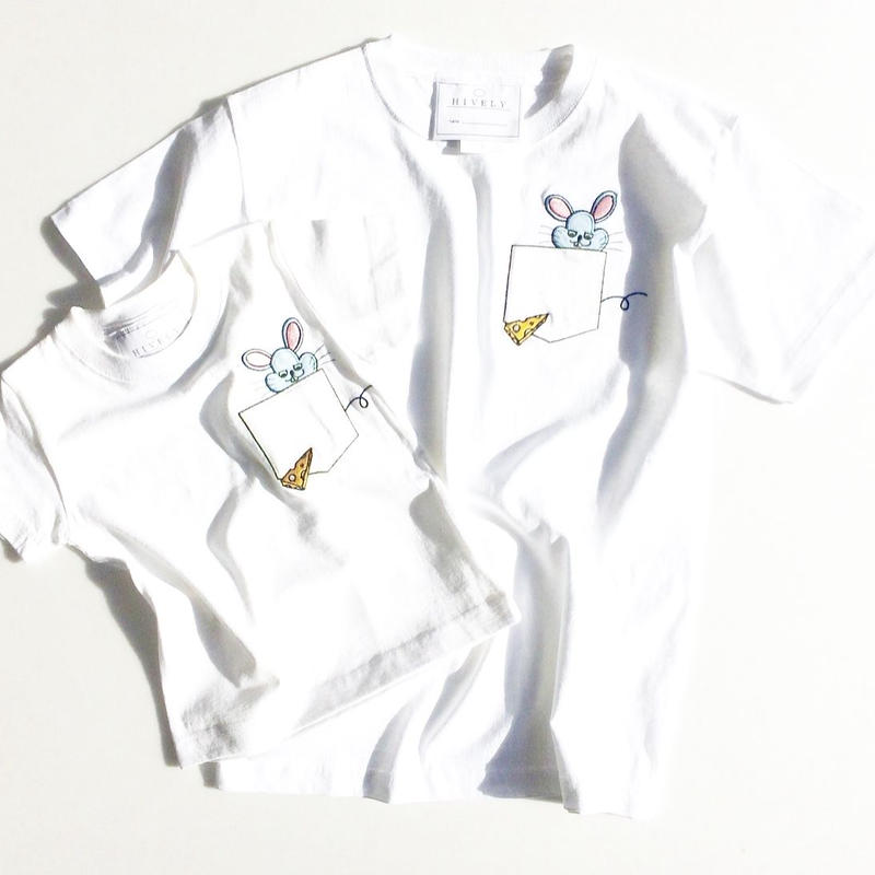 MOUSE LADYS/MENS Tシャツ White