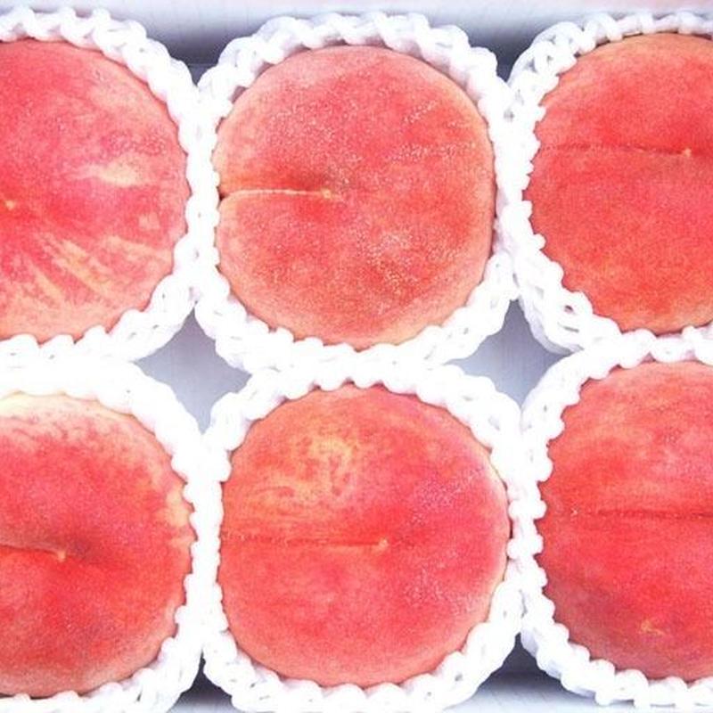 【気軽に楽しめる】さくら白桃 2kg(5〜8玉)