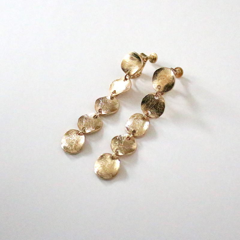 Consecutively Plate earring