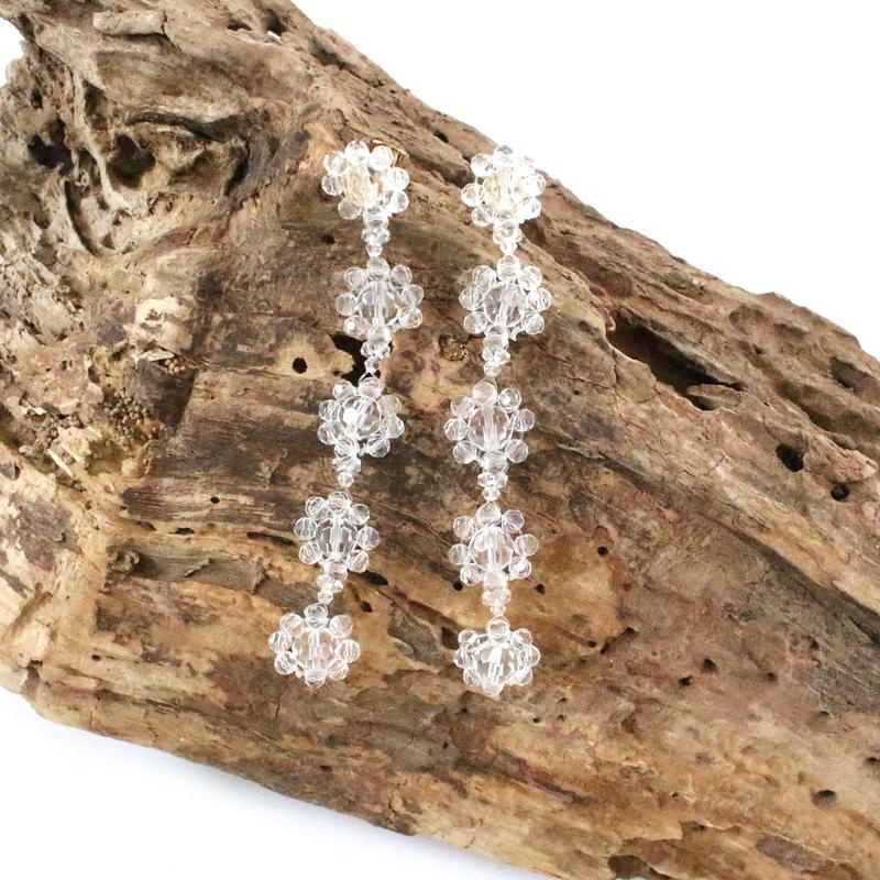 Clear Flower Chain pierce