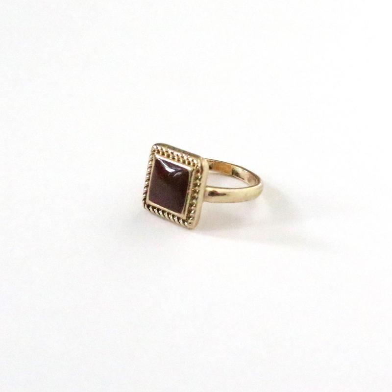 Vintage Square Stone ring