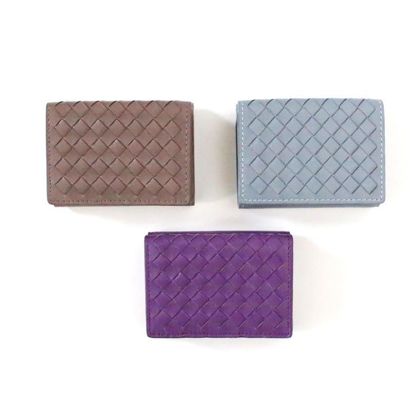 Leather Knit Mini wallet