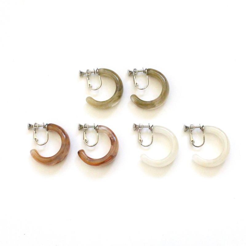 Mini Marble Clear earring