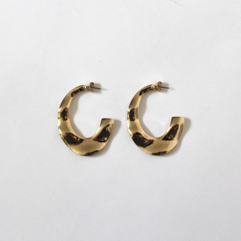 Gold Plate hoop pierce