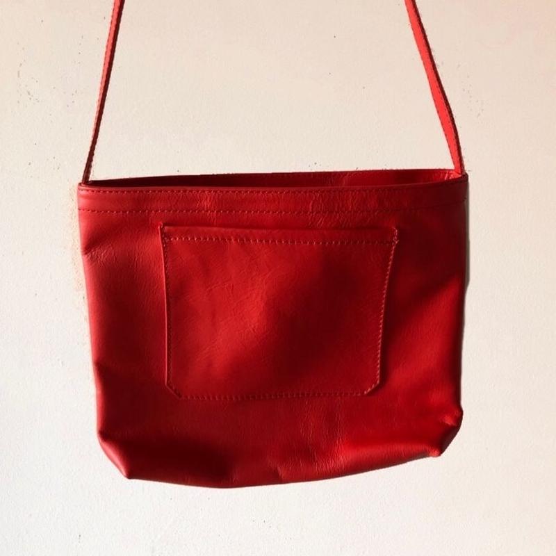 イタリアンレザー サコッシュ Rosso Itarian leather pochette