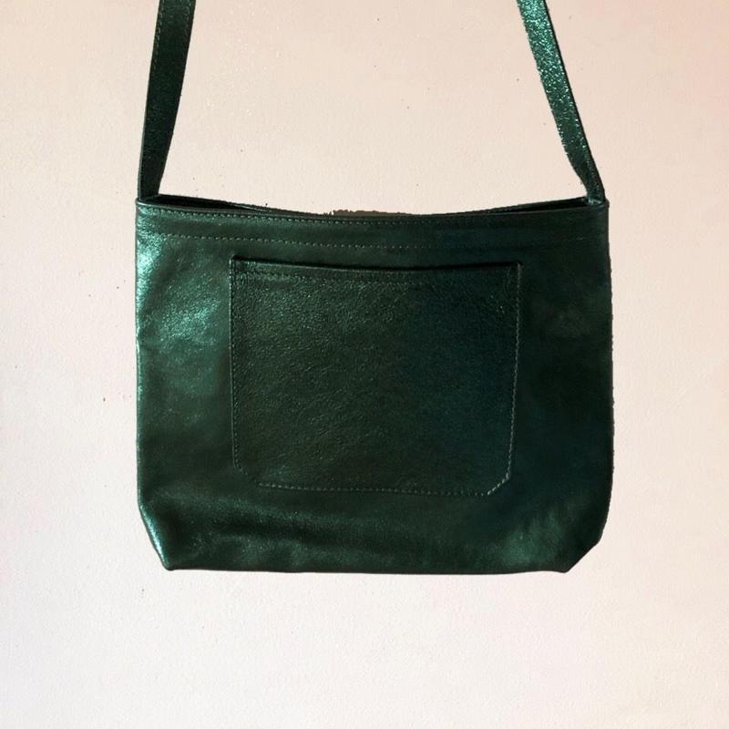 イタリアンレザー サコッシュ Viridian Itarian leather pochette
