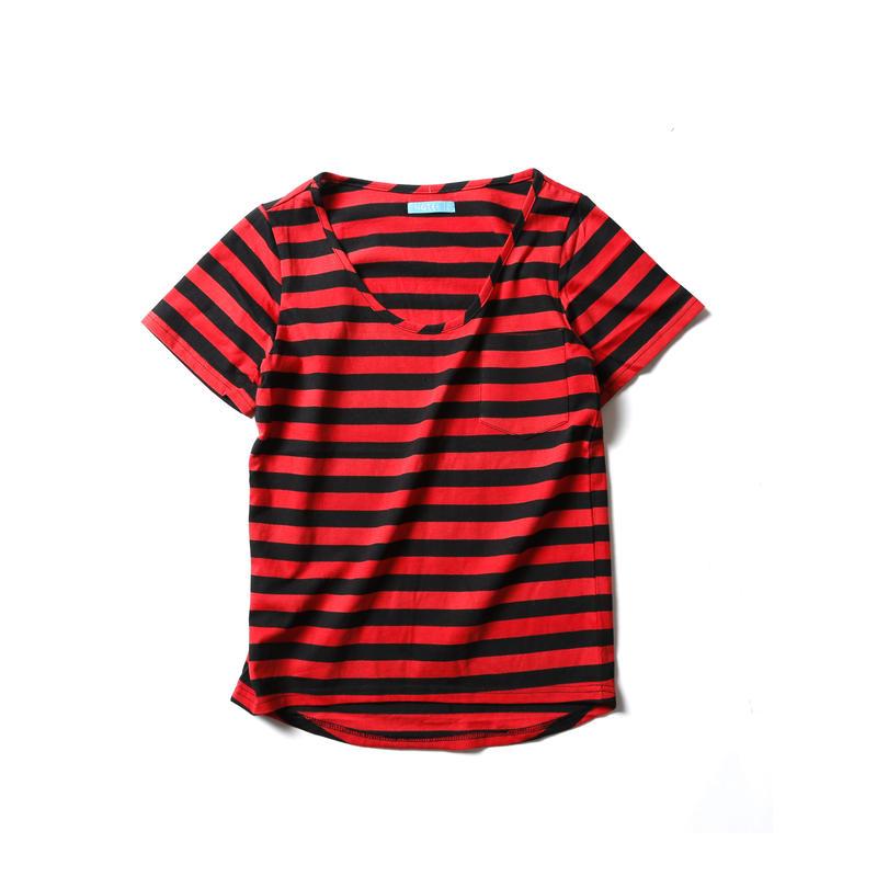 ポケット付 ロングテール Tシャツ