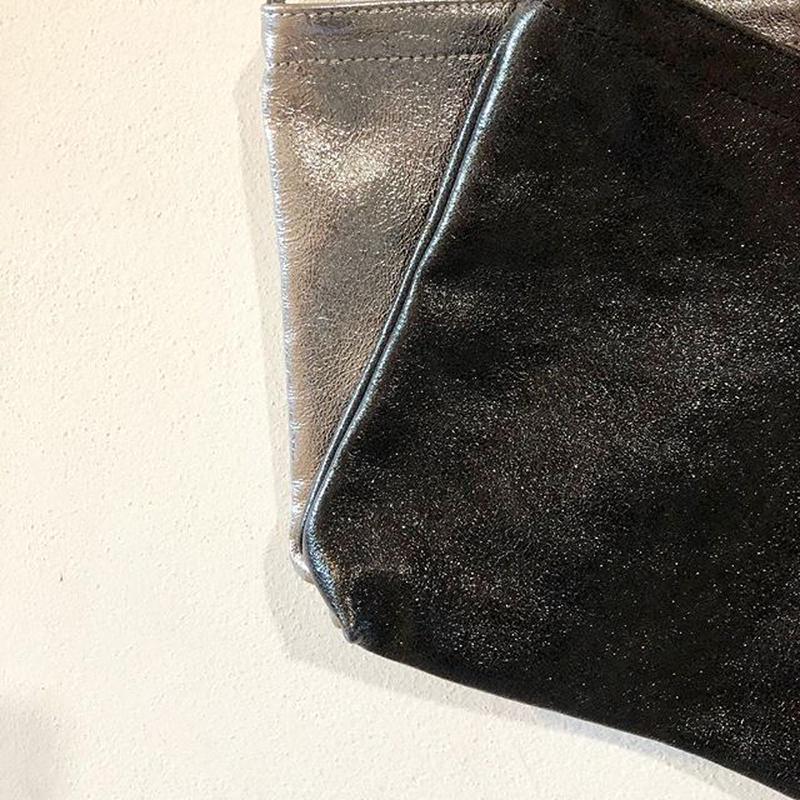 イタリアンレザー サコッシュ Itarian leather pochette black