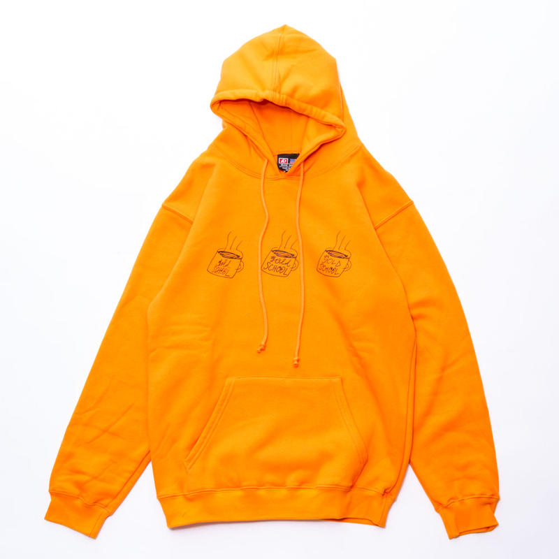 gold school coffee cup sweat hoodie