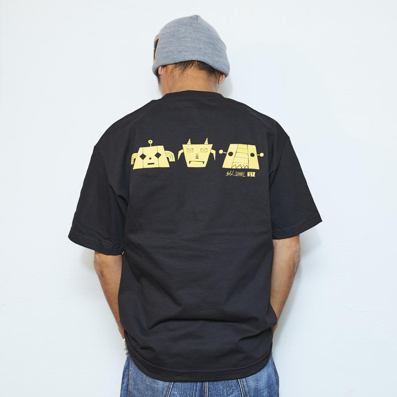 gold school robo t shirt