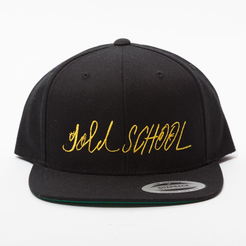 Gold  school logo cap