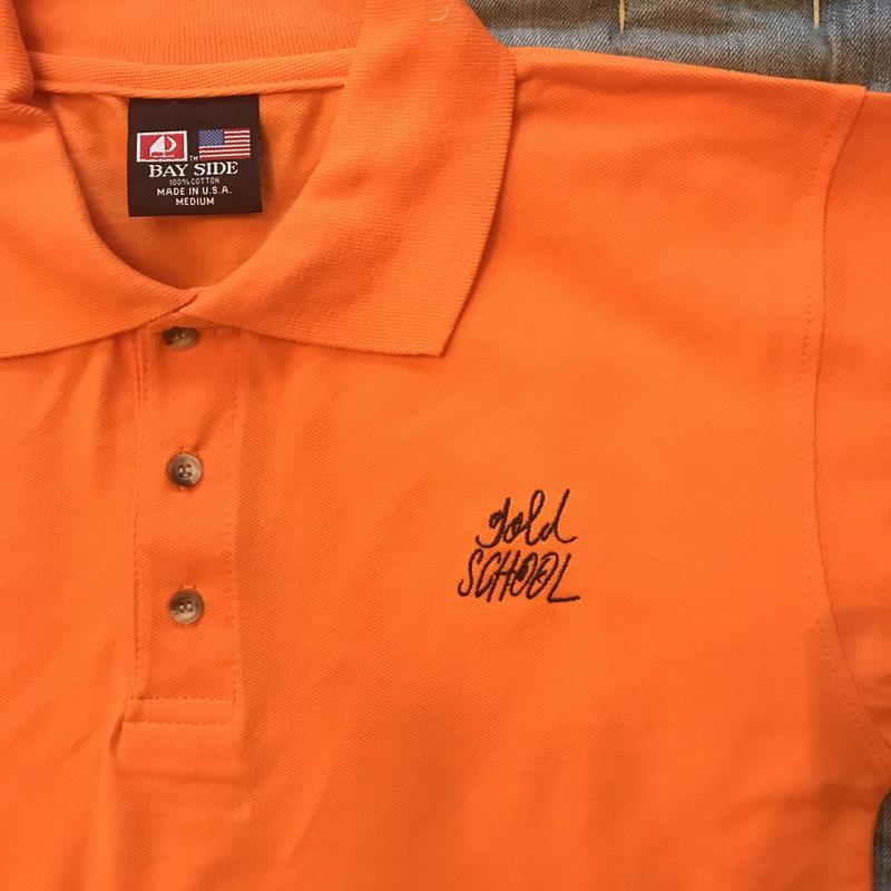 gold school  original polo shirt