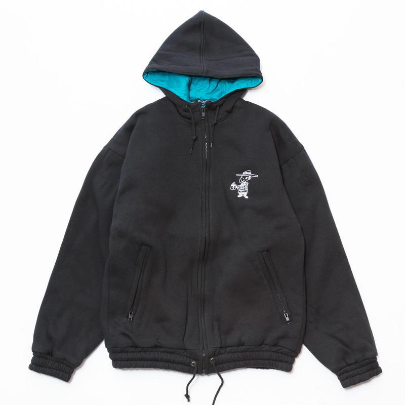 gold school sweat hoodie jacket