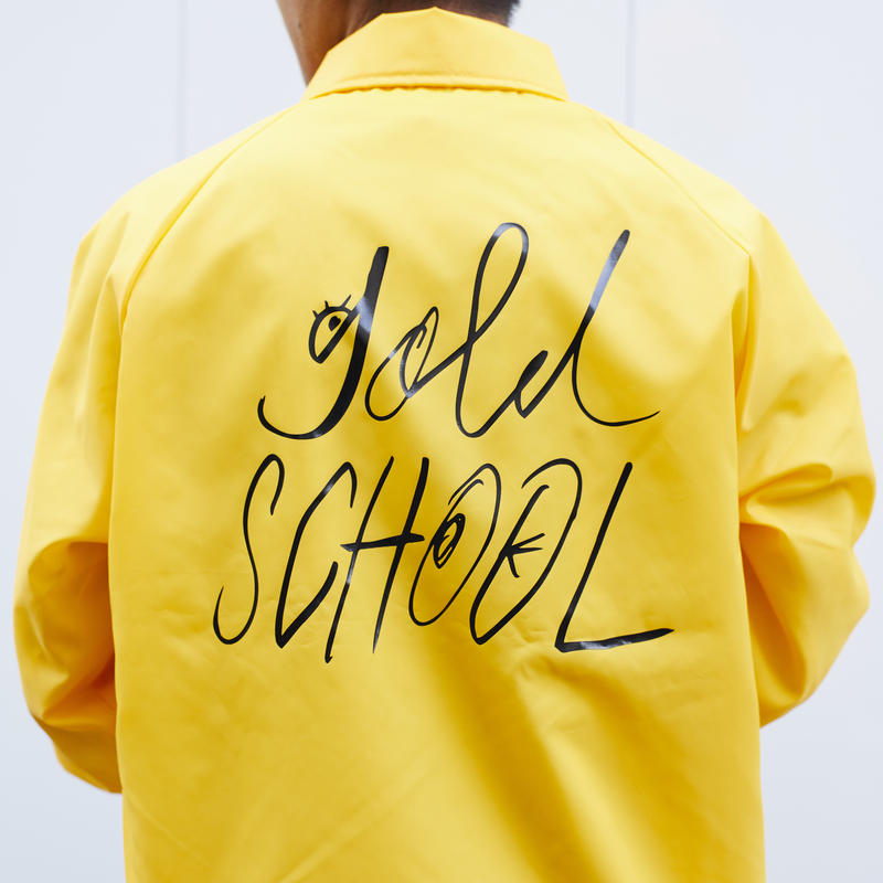 gold school sport master coach jacket