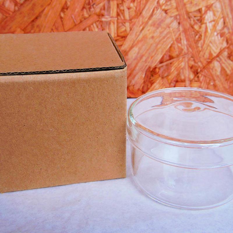 ■テラリウムガラス容器 蓋付カップ Mサイズ