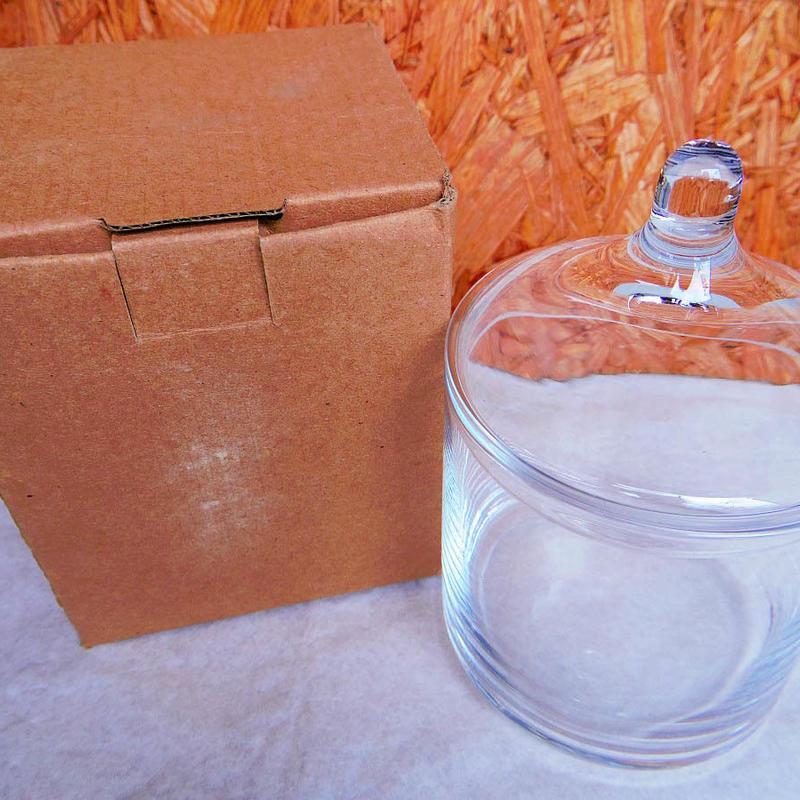 ■テラリウムガラス容器 蓋付キャンディーポット Lサイズ