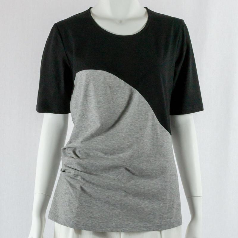 471-2106|カーブ切り替え 配色 Tシャツ