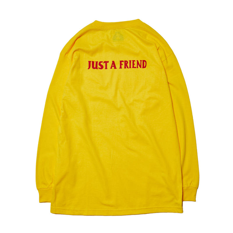 JUST A FRIEND LONG SLEEVE TEE / YELLOW