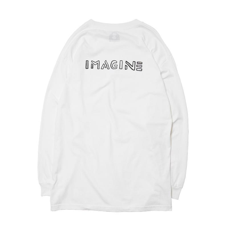 IMAGINE LONG SLEEVE TEE / WHITE