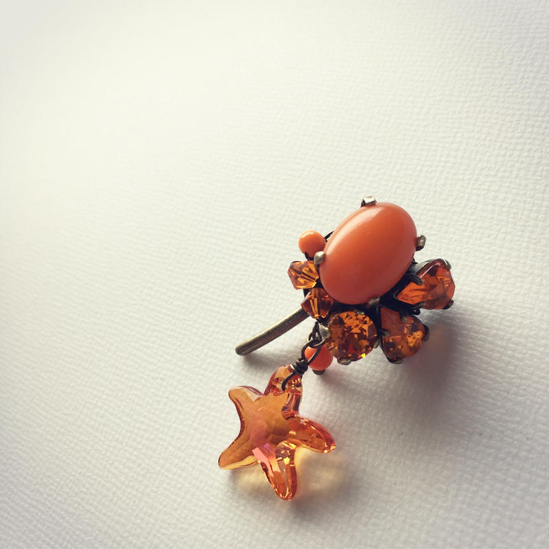 オレンジカラー ポニーフック