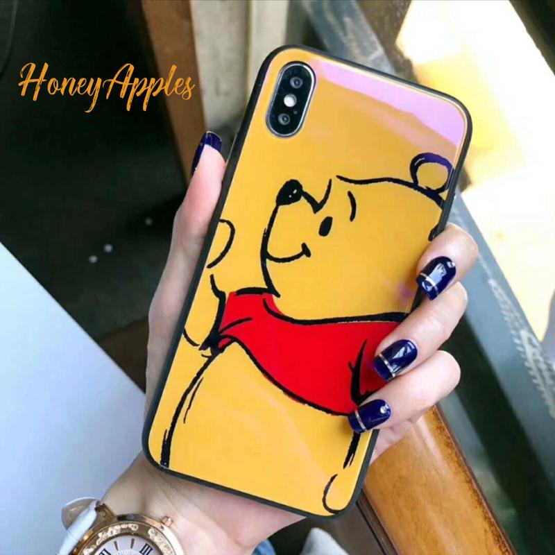 プーさん iPhoneケース Disney Glass Case