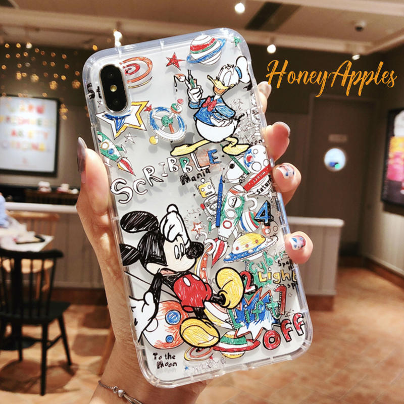 Micky & Donald  iPhoneケース ソフトケース クリア