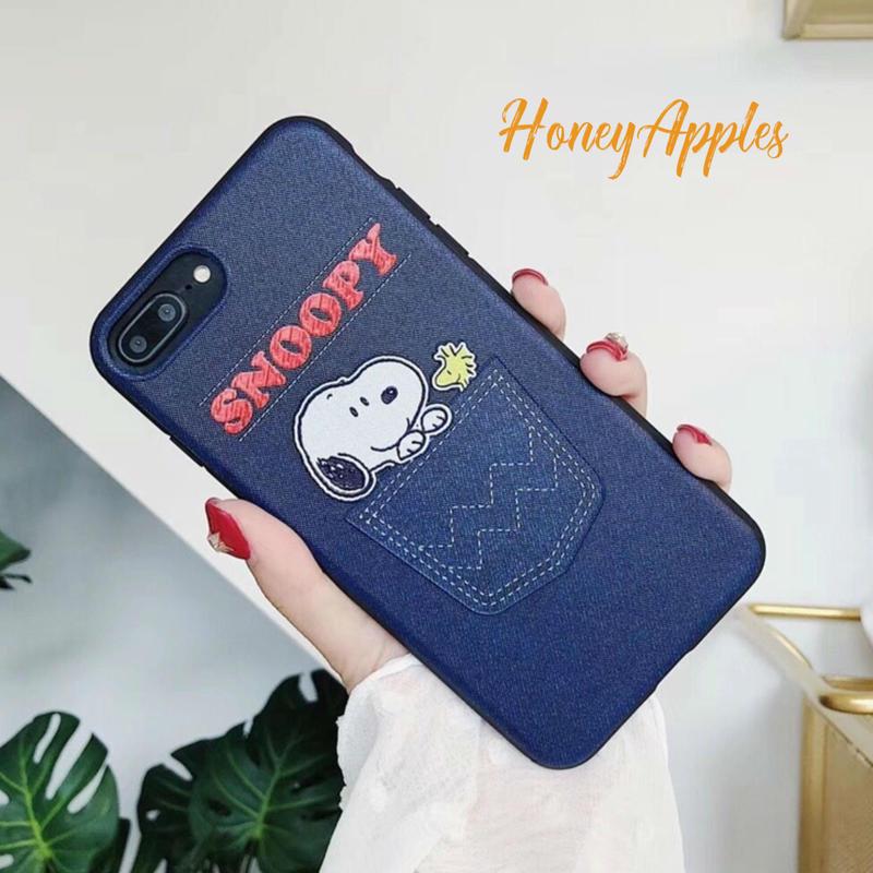 SNOOPY iPhoneケース Navy デニム