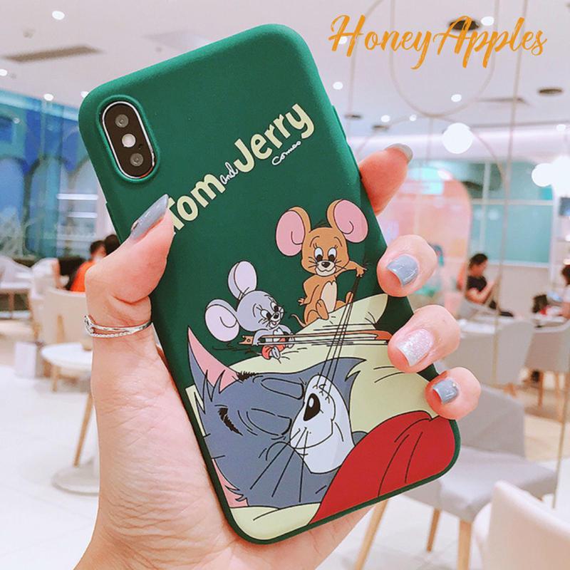 トムとジェリー iPhoneケース [ Green ] Tom and Jerry TPU