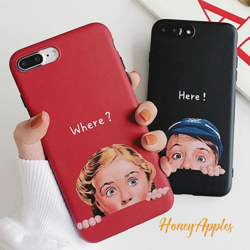 [ Where? / Here! ] ユニークデザイン iPhoneケース 女の子 / 男の子