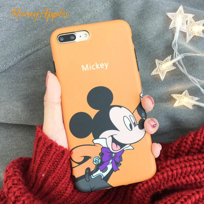 Micky ミッキーマウス iPhoneケース オレンジ Orange Disney TPU