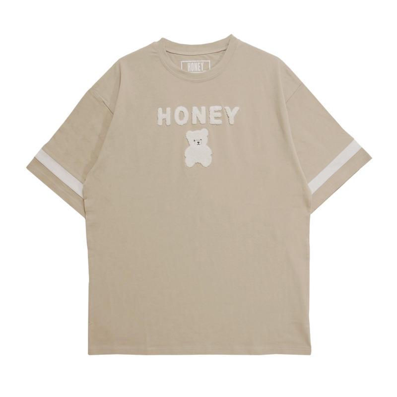 192CS0422<Unisex>サガラ刺繍HONEY Tシャツ