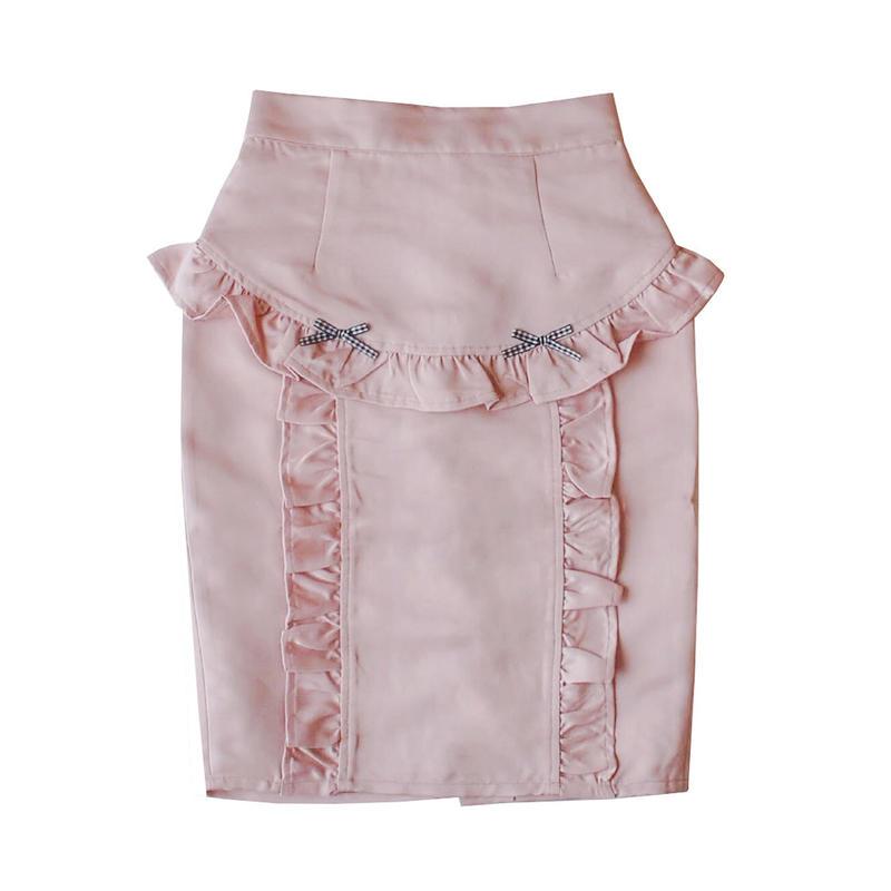 183SK0876 フリルタイトスカート