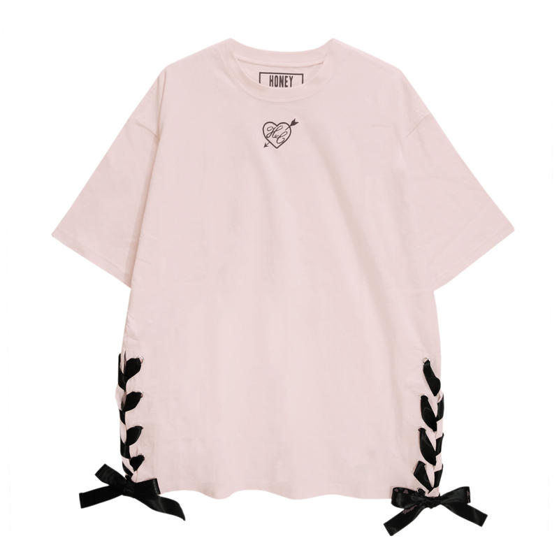 192CS0530 ハートアローレースアップTシャツ