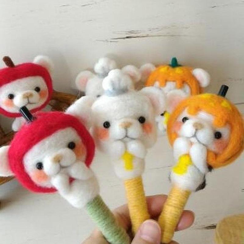 シュガ〜羊毛フェルトボールペン