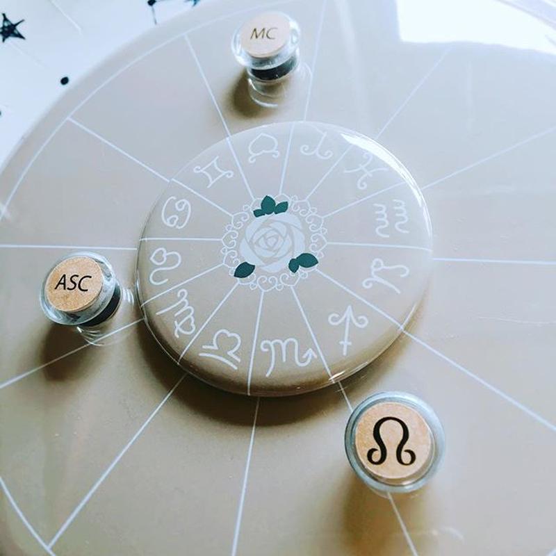 M-020 #豆惑星マグネットジェネリック ASC・MC・ドラゴンヘッド 3種セット カフェオレ