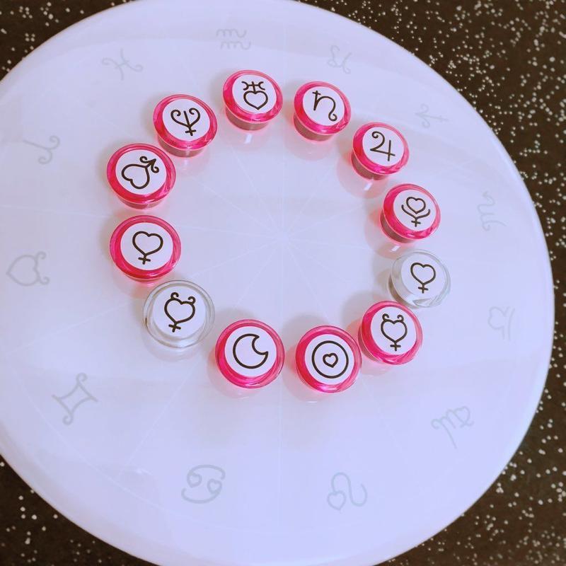#豆惑星マグネットジェネリック ぴめピンクモデル 10天体セット(すぐに使える!ぴめピンク台座付!)