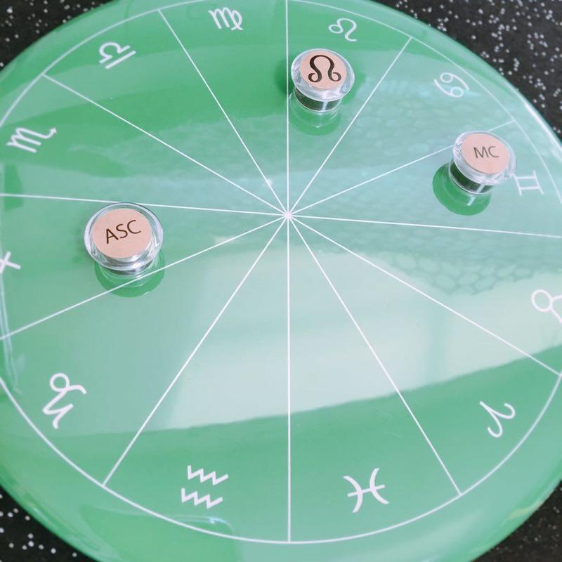 Horoskopskiマグネット用台座 シンプルスクールモデル 黒板風  ※豆惑星マグネットは別売りです