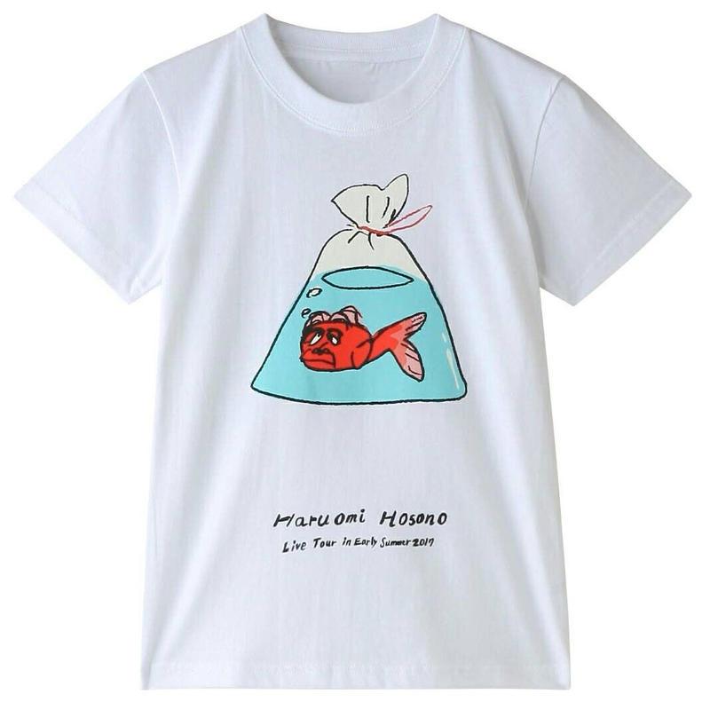 初夏キッズTシャツ(金魚・ホワイト)