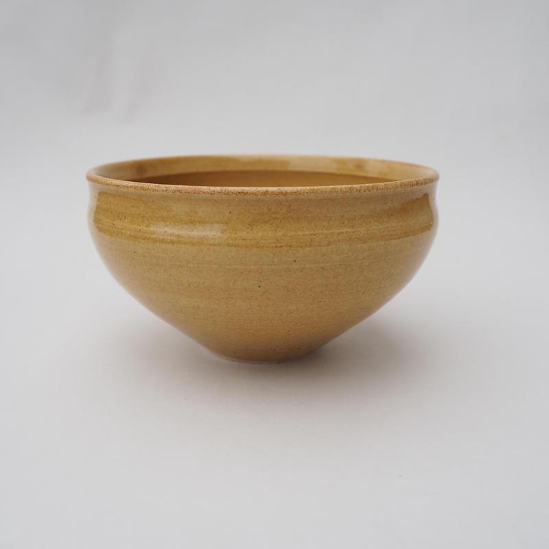 黄釉 豆鉢