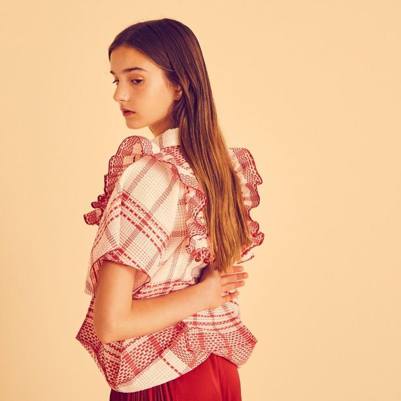 check giftbox blouse