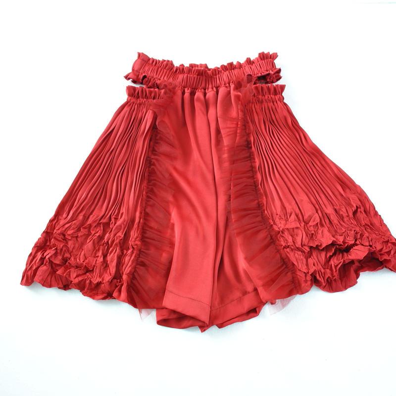 wrapping satin pants