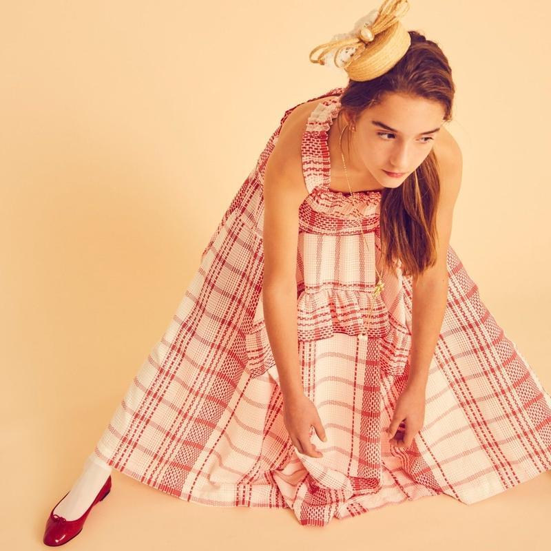 check giftbox dress