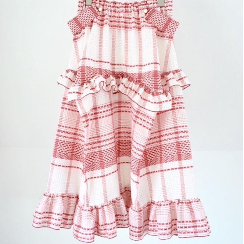 check giftbox skirt