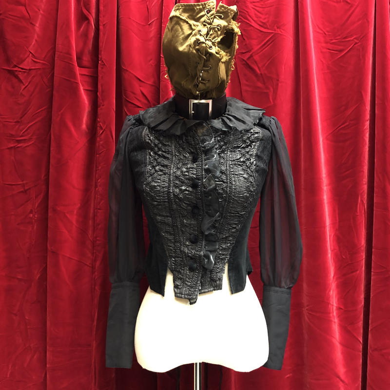 see-through sleeve corset/jk