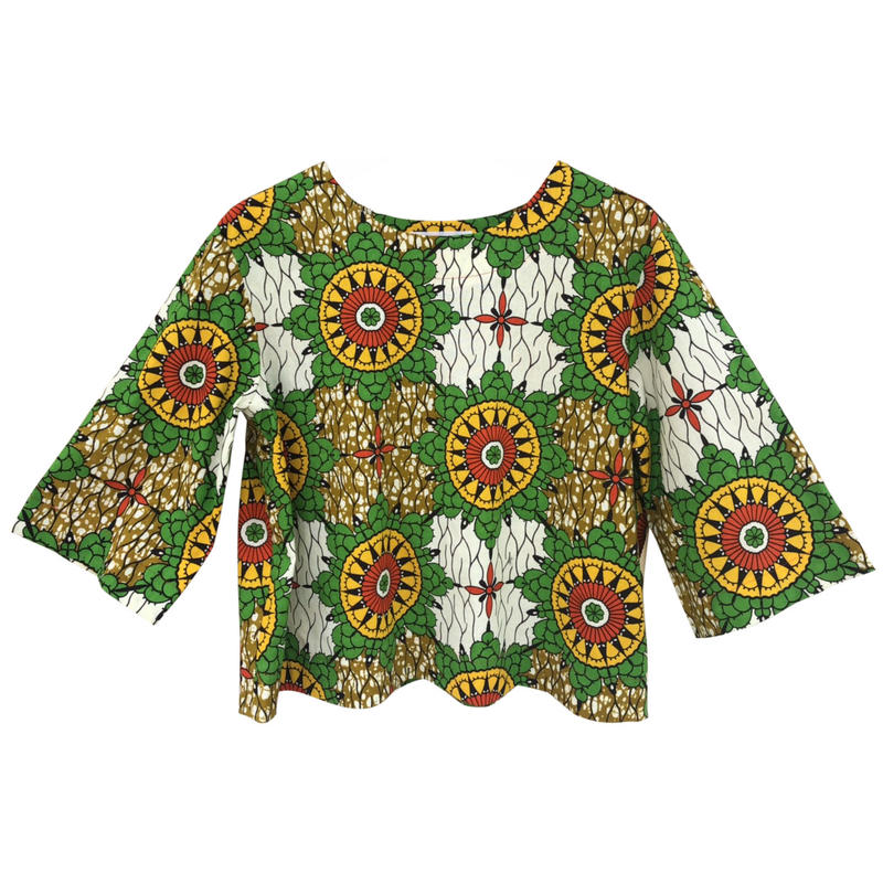 Tamago - Ladie's  shirt  / African Print from London