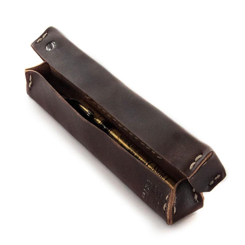 minna HITOMONOKOTO / Bridle Leather PEN BOX
