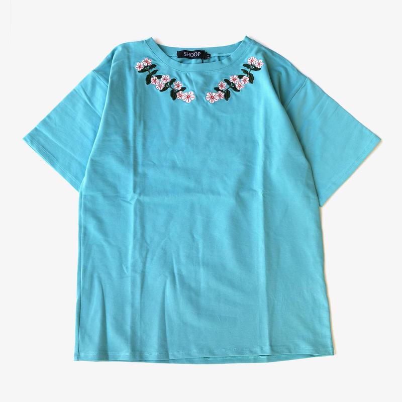 SHOOP   Catharanthus T-Shirt   Light Blue